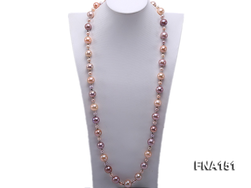 13-16.5mm Classy Multi-color Edison Pearl Long Necklace