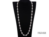 12-14.5mm Classy White Edison Pearl Long Necklace