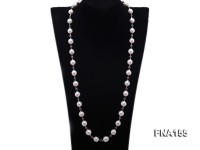 11.5-14mm Classy White Edison Pearl Long Necklace