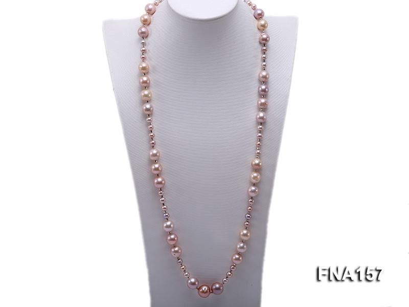 12.5-15.5mm Classy Multi-color Edison Pearl Long Necklace