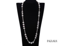 12-15.5mm Classy White Edison Pearl Long Necklace