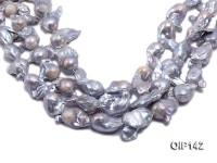 18-30mm Silver Lavender Irregular Pearl String