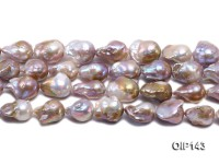 16-19mm Grey Lavender Irregular Pearl String