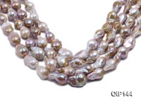 16-20mm Grey Lavender Irregular Pearl String