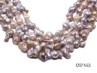 14-20mm Grey Lavender Irregular Pearl String