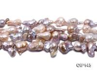 14-20mm Grey Lavender Irregular Pearl String
