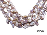 18-30mm Grey Lavender Irregular Pearl String