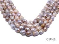 12-16mm Grey Lavender Irregular Pearl String