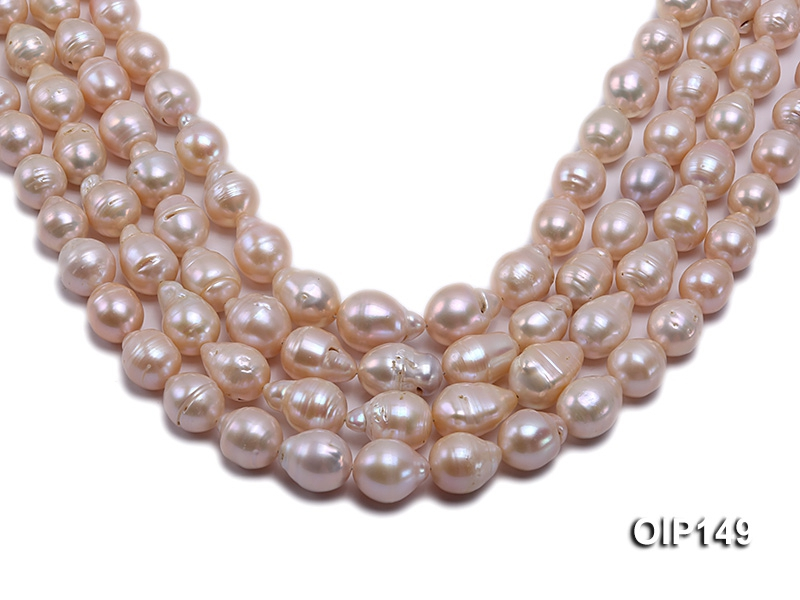 12-16mm Pink Irregular Pearl String