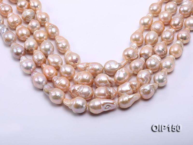 12-16mm Pink Irregular Pearl String