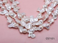 18-30mm White Irregular Pearl String
