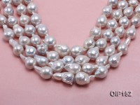 14-16mm White Irregular Pearl String