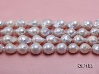15-18mm White Irregular Pearl String