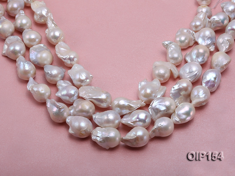 13-20mm White Baroque Pearl String
