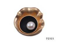 12.5mm White Freshwater Pearl Brooch