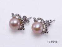 8mm Lavender Flat Freshwater Pearl Earrings
