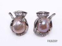 11-12mm Lavender  Baroque Freshwater Pearl Earrings
