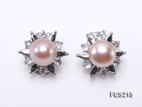 9mm Pink Flat Cultured Freshwater Pearl Clip-on Earrings