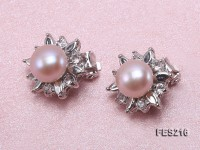 9mm Lavender Flat Cultured Freshwater Pearl Clip-on Earrings