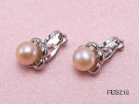 8mm Pink  Flat Cultured Freshwater Pearl Clip-on Earrings