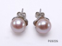 9mm Lavender Flat Freshwater Pearl Earrings