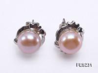 9mm Lavender Flat Freshwater Pearl Earrings
