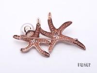 Starfish-like 12mm White Near Round Freshwater Pearl Brooch