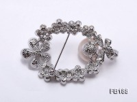 13.5mm White Round Edison Pearl Brooch