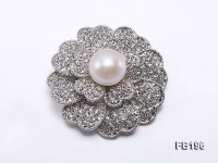 12.5mm White Round Edison Pearl Brooch