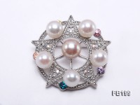 9-10mm White and Lavender Freshwater Pearl Brooch