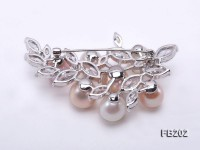 18.5-10mm Multi-color Freshwater Pearl Brooch