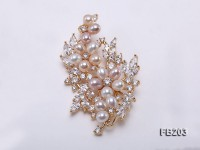 6x7mm Multi-color Freshwater Pearl Brooch