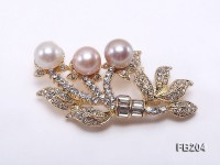 10mm Multi-color Freshwater Pearl Brooch
