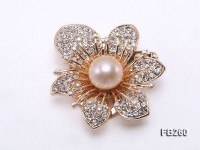 11.5mm Pink Freshwater Pearl Brooch