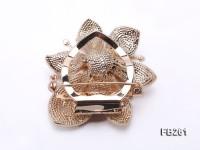 12.5mm Lavender Freshwater Pearl Brooch