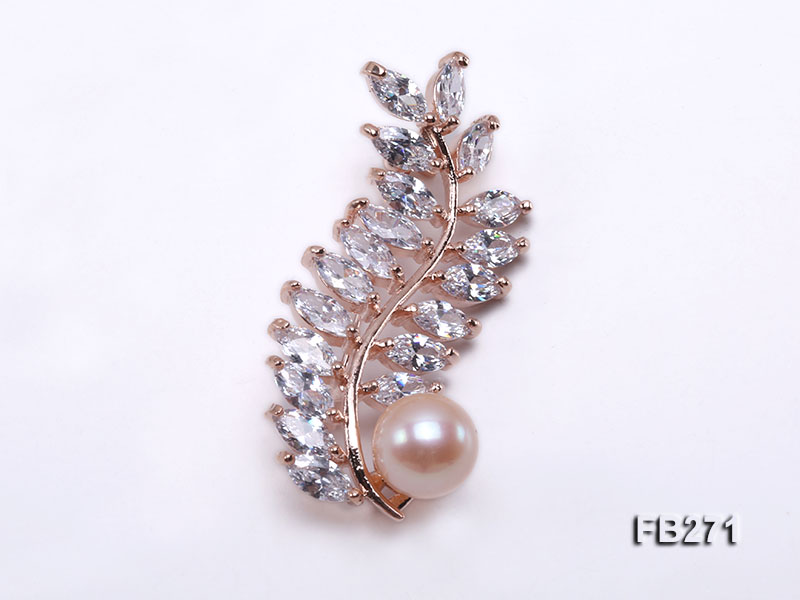 10.5mm Pink Freshwater Pearl Brooch