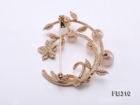 7-9mm Pink Freshwater Pearl Brooch