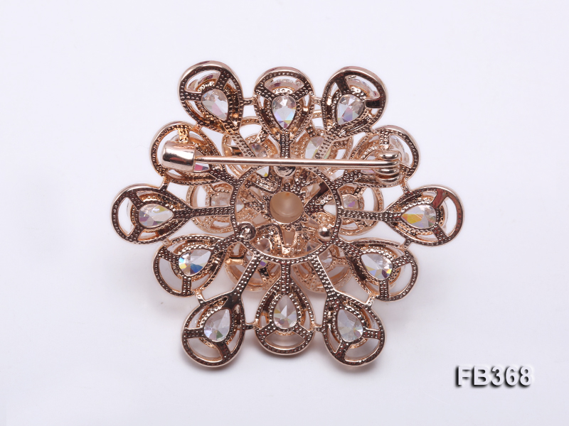 12mm Pink Freshwater Pearl Brooch