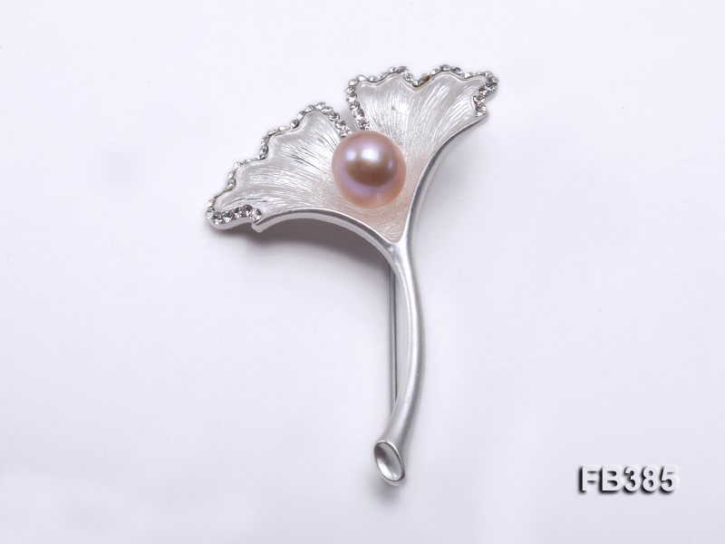 10x13mm Pink Freshwater Pearl Brooch