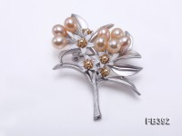 7x8mm Pink Freshwater Pearl Brooch