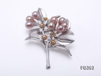 6.5x8mm Lavender Freshwater Pearl Brooch