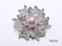 14.5mm Lavender Edison Pearl Brooch