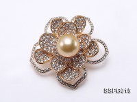13mm South Sea Golden Pearl Brooch