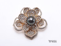 11mm Black Tahitian Pearl Brooch
