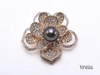 11mm Black Tahitian Pearl Brooch