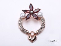 8.5mm White Freshwater Pearl Brooch