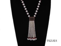 10mm White Round Cultured Freshwater Pearl Necklace
