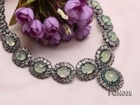 Fine Natural Prehnite and Emerald Necklace