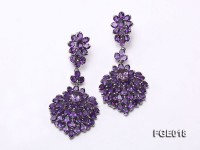 Fine Natural Amethyst Earrings