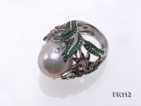 Fine Flower-style White Baroque Pearl Ring